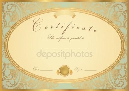 Certificate of completion (template or sample background) with - sample certificate of completion template