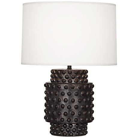 Robert Abbey Dolly Gunmetal Ceramic Short Accent Lamp Table Lamp Design Table Lamp Black Table Lamps