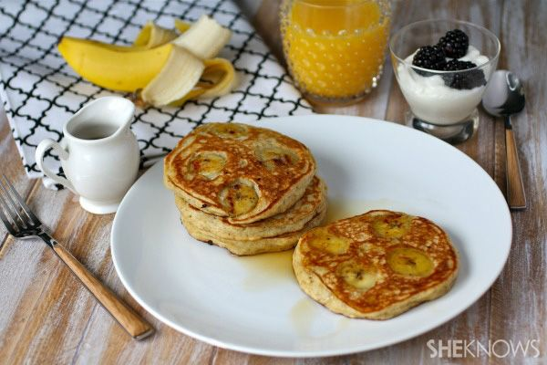 Meatless Monday: Banana-buttermilk and flaxseed pancakes