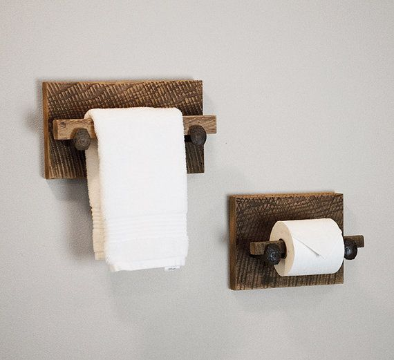 Murphy toilet paper holder rustic toilet paper by for Toilet paper holder ideas