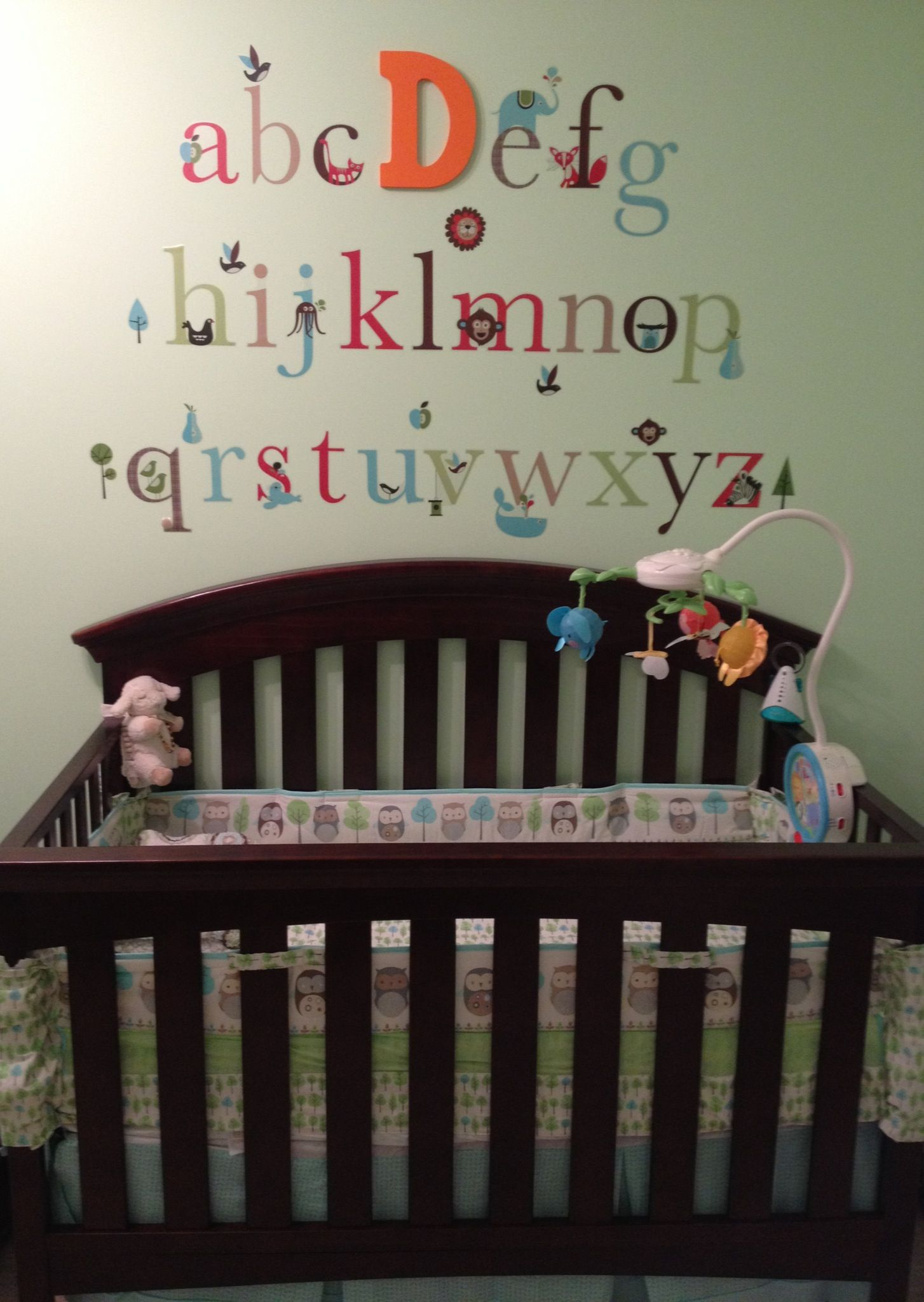 Baby Dylan S Nursery I Used L And Stick Letters Replaced The First Letter Of His Name With A Larger Wooden From Michael That Painted