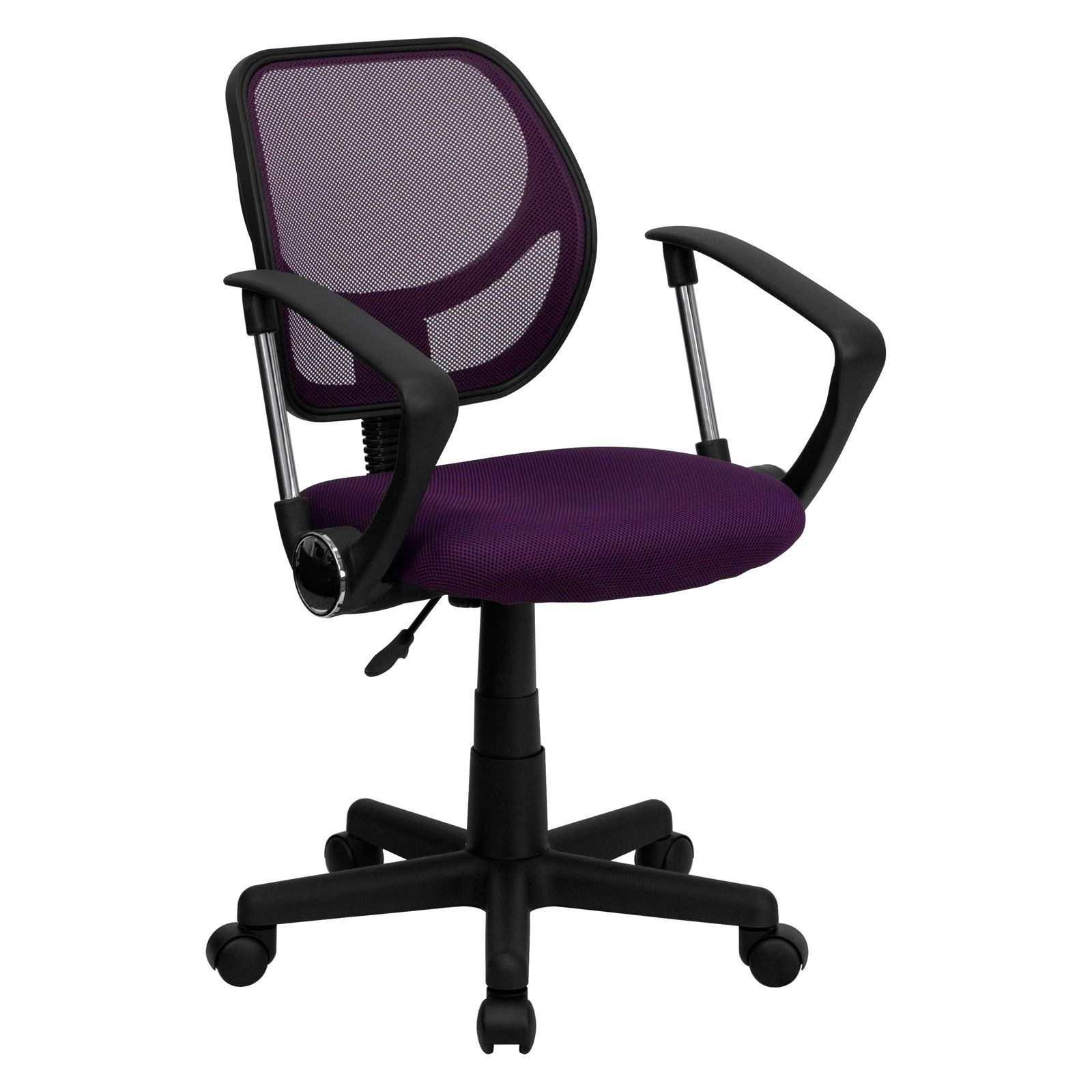 Flash Furniture Mid Back Task Chair And Computer Chair Purple Mesh Best Office Chair Furniture Used Office Chairs
