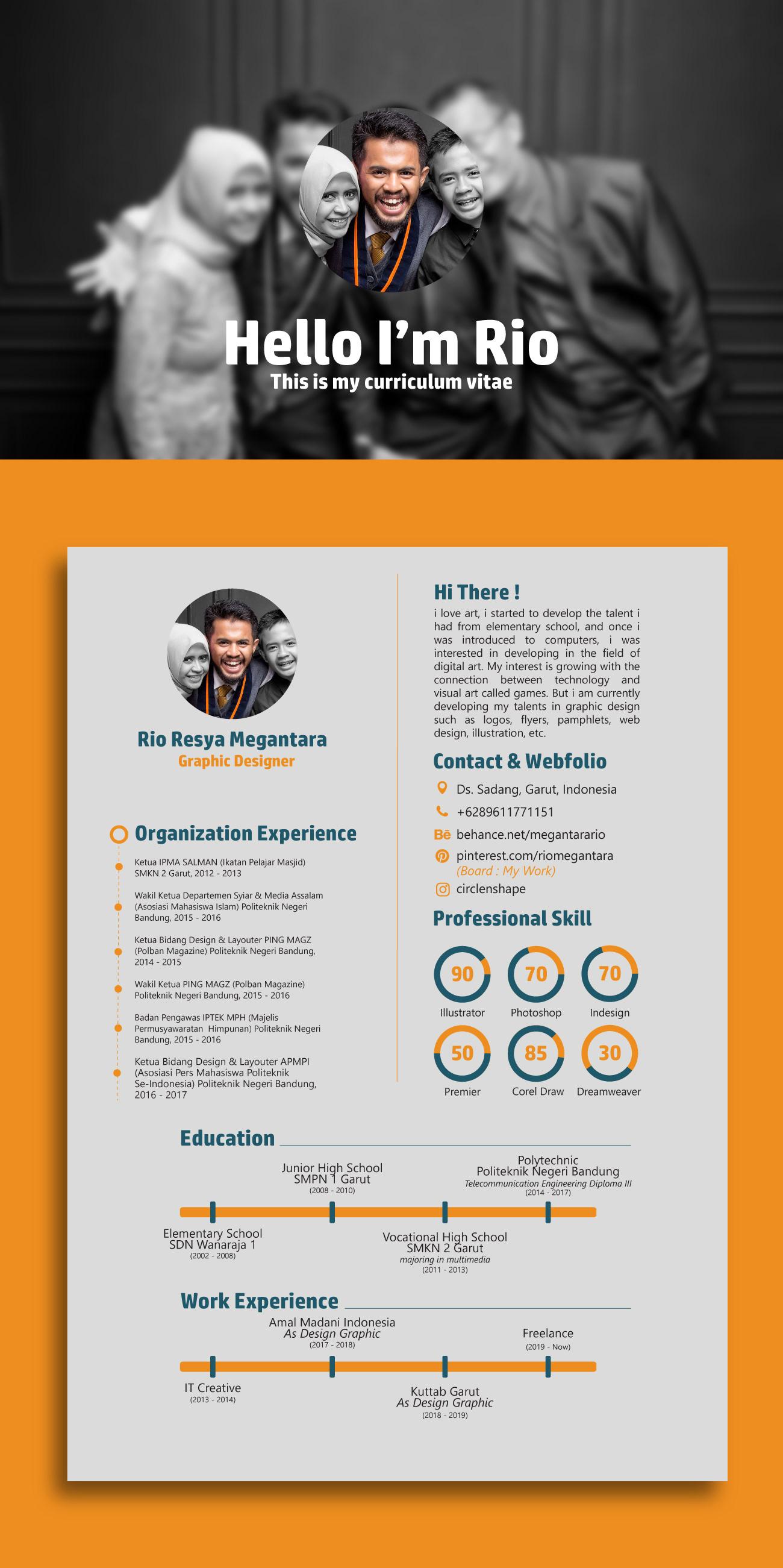 Graphic Designer Resume Cv Graphic Design Resume Curriculum Vitae Creative Resume
