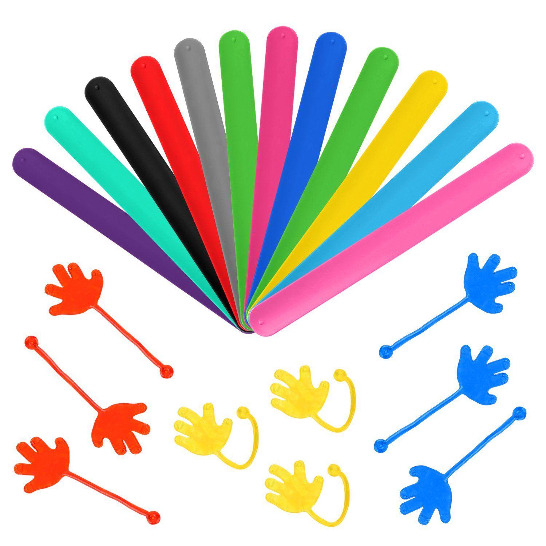 pieces wefun party favors silicone slap bracelets sticky