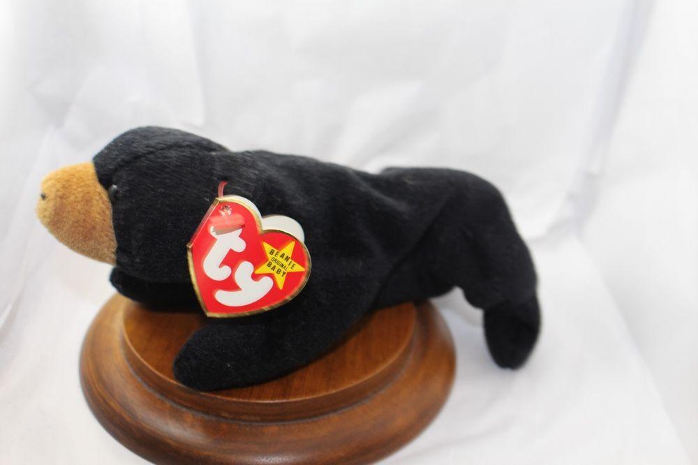 2dbd05ec58c Ty Beanie Babies  Blackie Black Bear  Retired 1994 NWT----- Tush Tag says  1993  Ty  Beanie