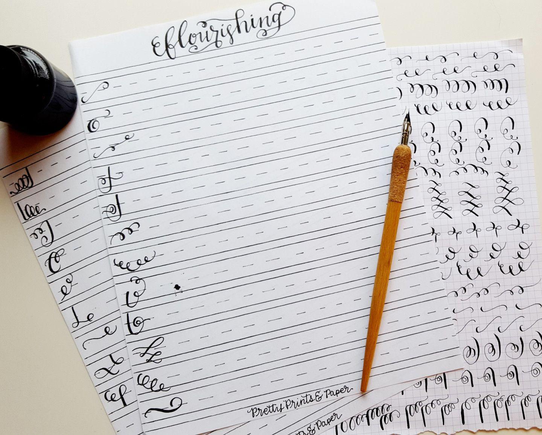 How To Calligraphy Flourishes Free Printable