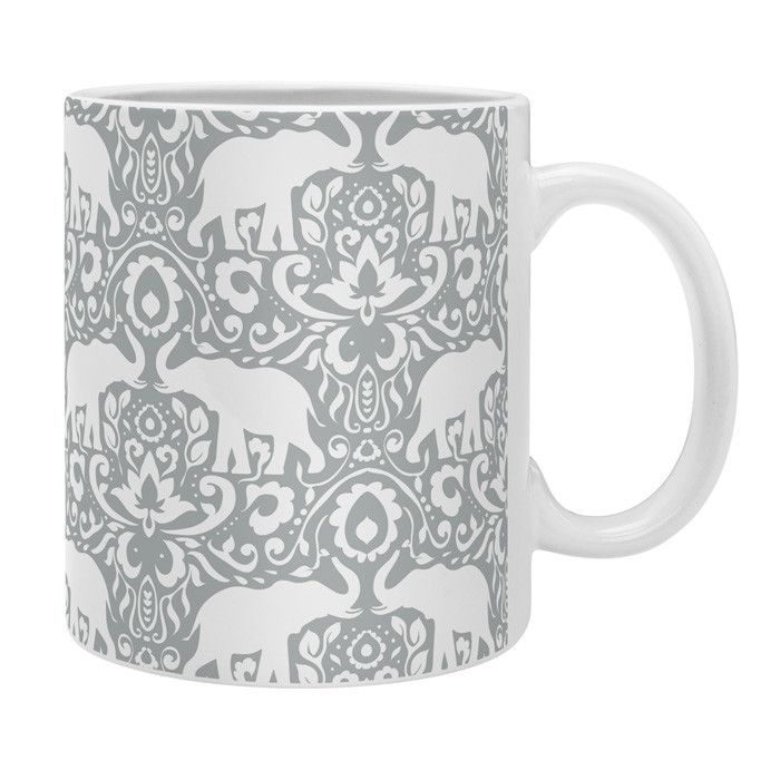 Jacqueline Maldonado Elephant Damask Paloma Coffee Mug | DENY Designs Home Accessories