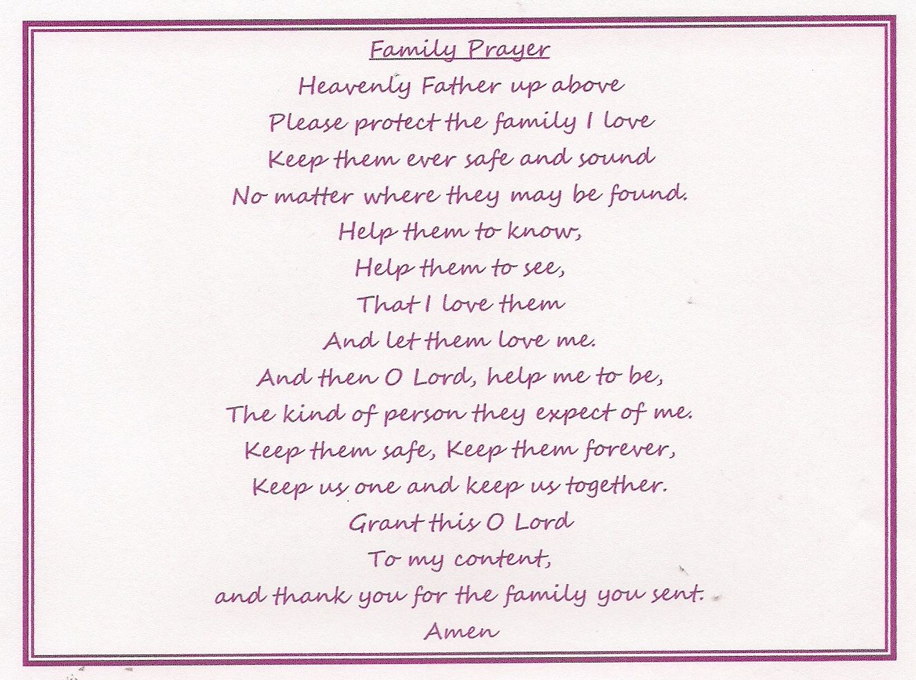 Prayer quotes for family