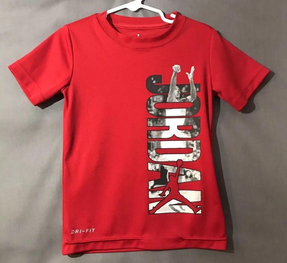 6dcdbe9abd9 Nike Jordan Shirt Boys Size 4 - Red - Dri-Fit | Clothing | Shirts ...