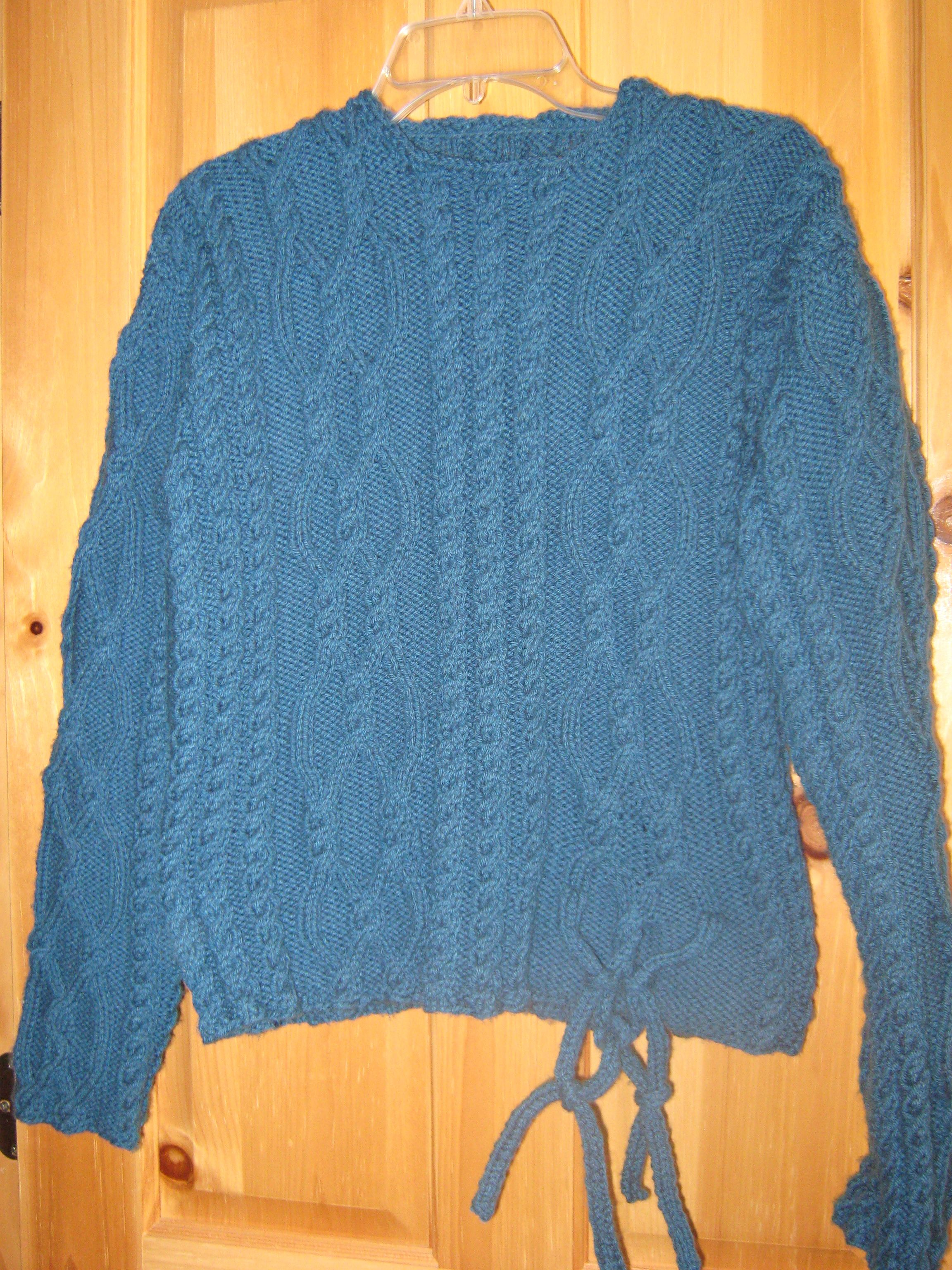 My first knit sweater. Design by Fiona Ellis from her book Inspired ...