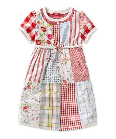 Take a look at this White Patchwork Djiba Dress - Toddler & Girls by Oilily on #zulily today!