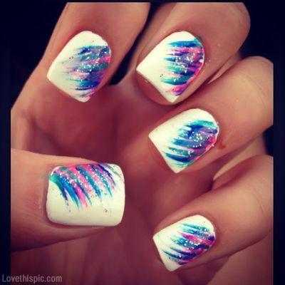 Creative nail style girly cute nails girl nail polish nail pretty girls  pretty nails nail art polish nail designs nail ideas, a also a cute summer  look. - Pin By TAB On Nail Design's Pinterest Manicure Nail Ideas