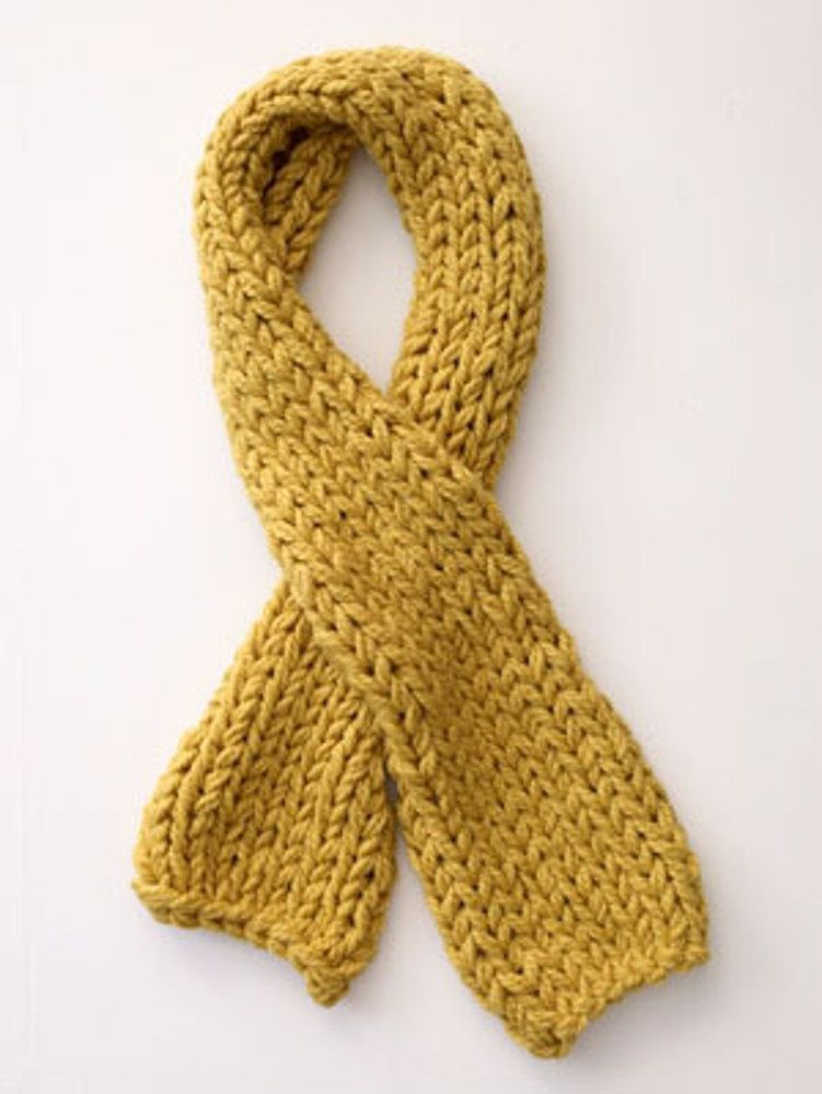 Easy beginners scarf in chunky Lion Brand Wool-Ease Thick & Quick ...