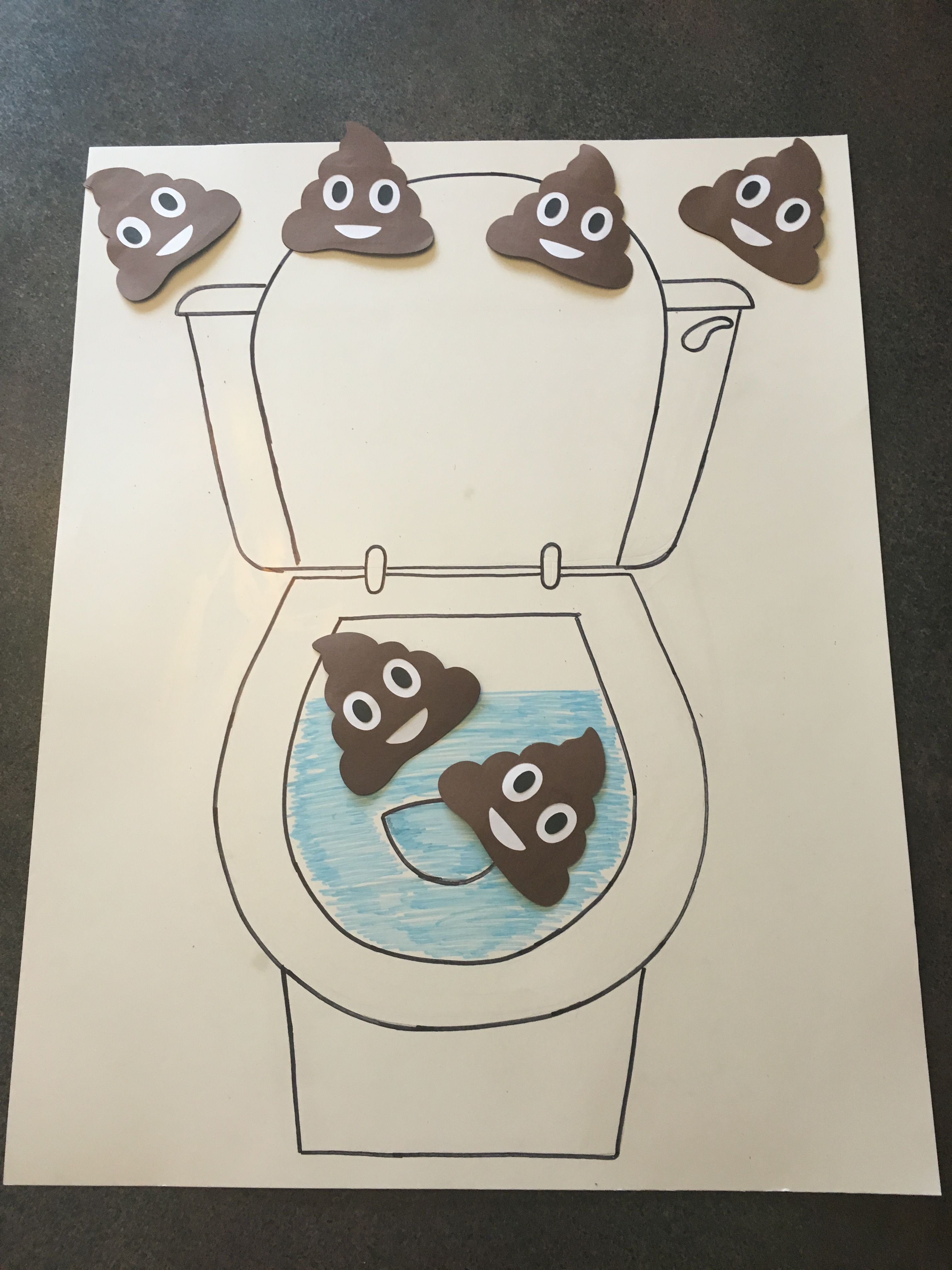 Emoji Games Pin The Use 2 Poster Boards To Draw Toilet