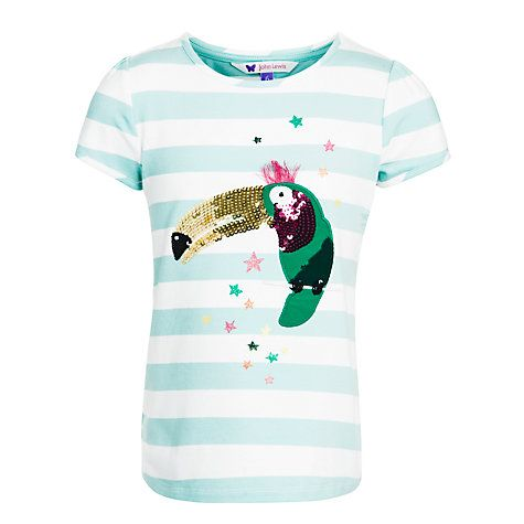3beeda5f864 Buy John Lewis Girl Sequin Toucan Stripe T-Shirt