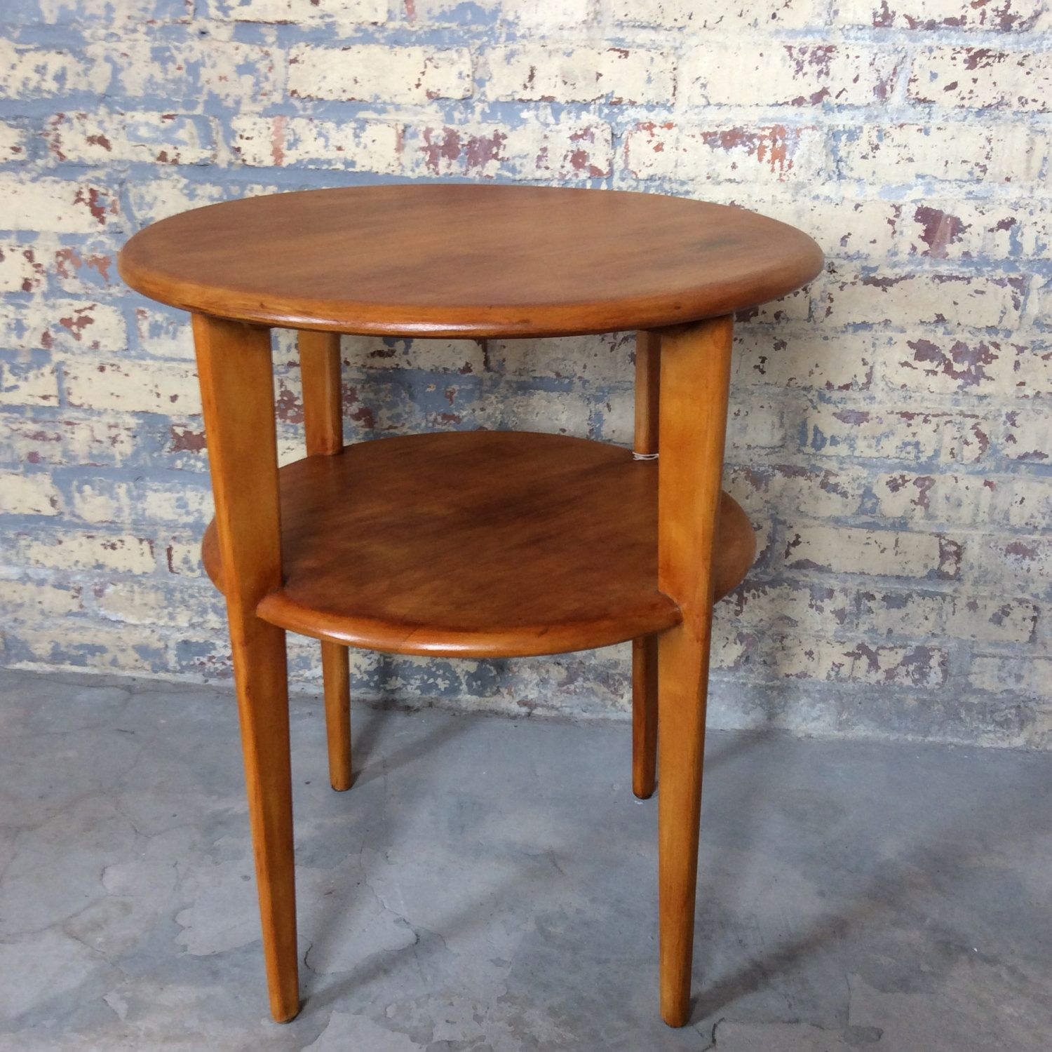 Mid Century Danish Side Table Conant Ball Russel Wright Style Side