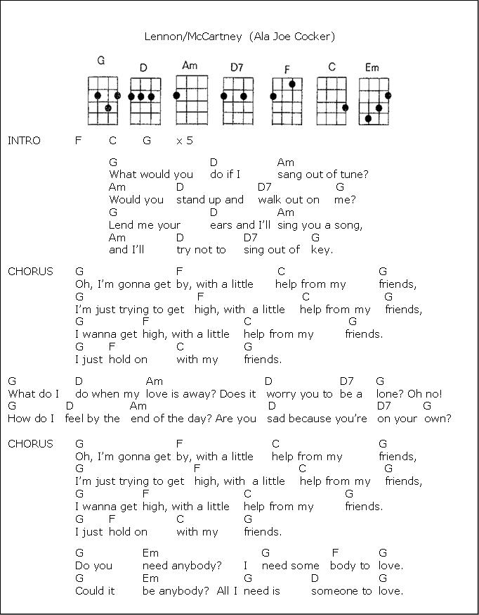 Just A Friend To You Ukulele : friend, ukulele, UKULELE, Little, Friends, Gumbootsgirl, Dingo, Ridge, Ukulele, Chords, Songs,
