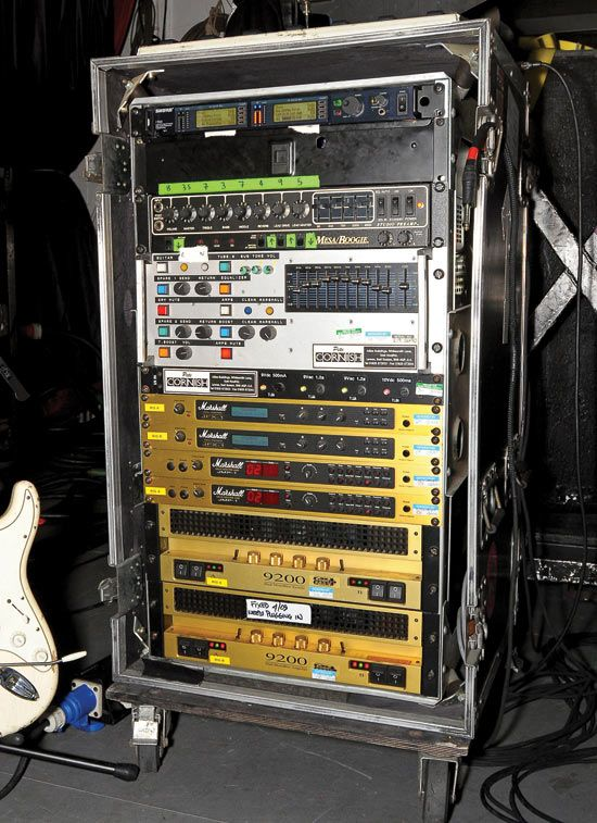 gallery: iron maiden's 2010 touring gear | guitar - rigs | guitar rig, guitar  rack, guitar pedals