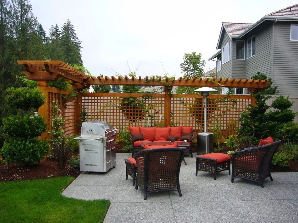 Landscape ideas for privacy between houses Small