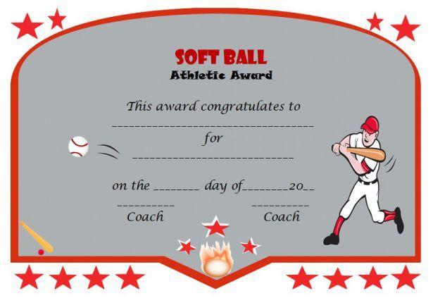Certificatesoftball1 Softball Certificate Templates Pinterest