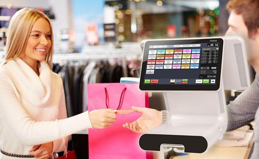 Retail Cashier Helper TPS650 Cash register  Clothes shop POS