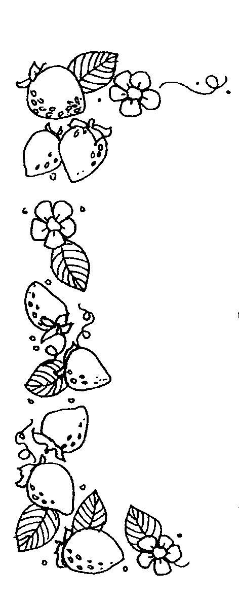 Mormon Share Strawberry Trim Clip Art Borders Strawberry Crafts Clip Art