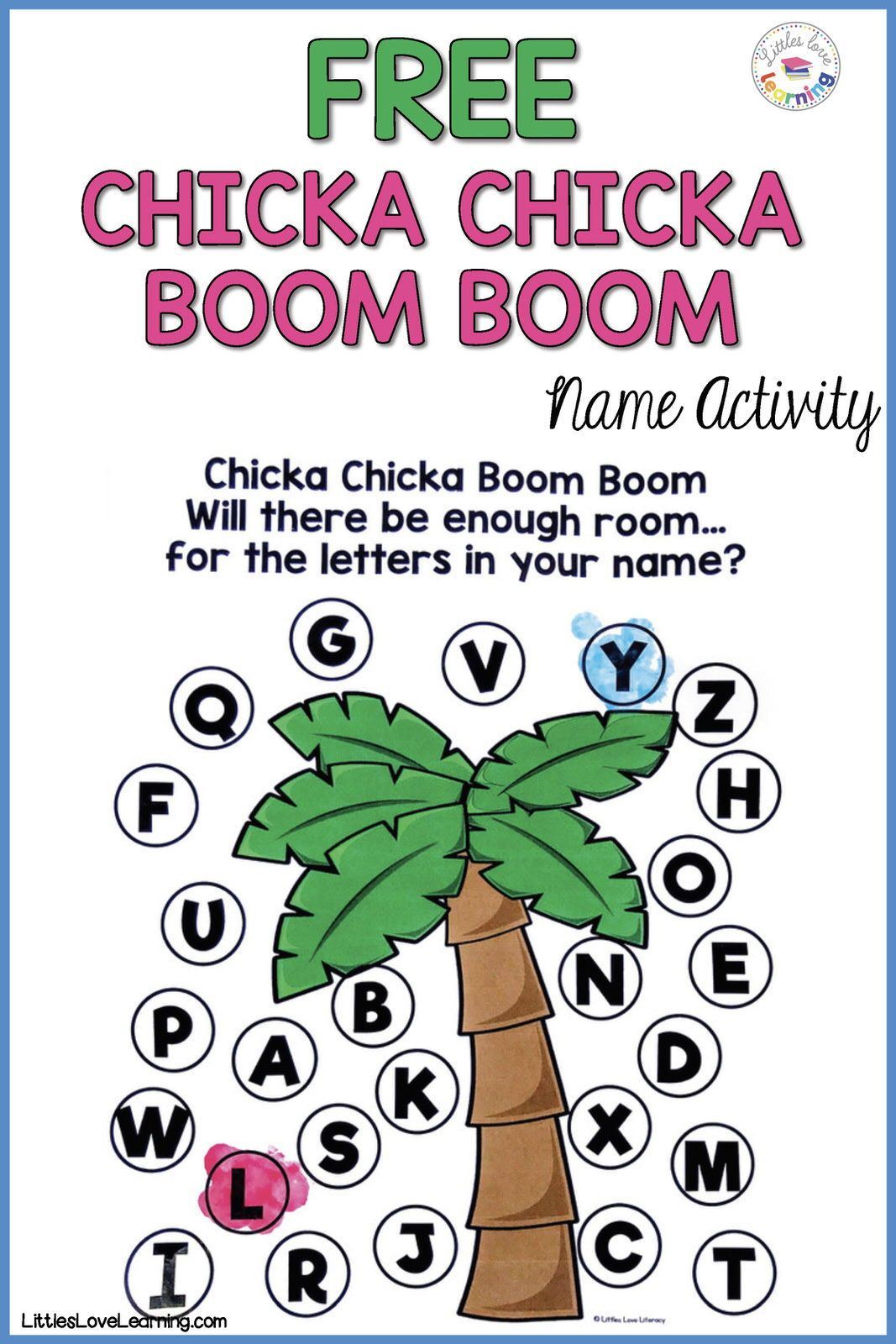 Free Printable For Chicka Chicka Boom Boom In