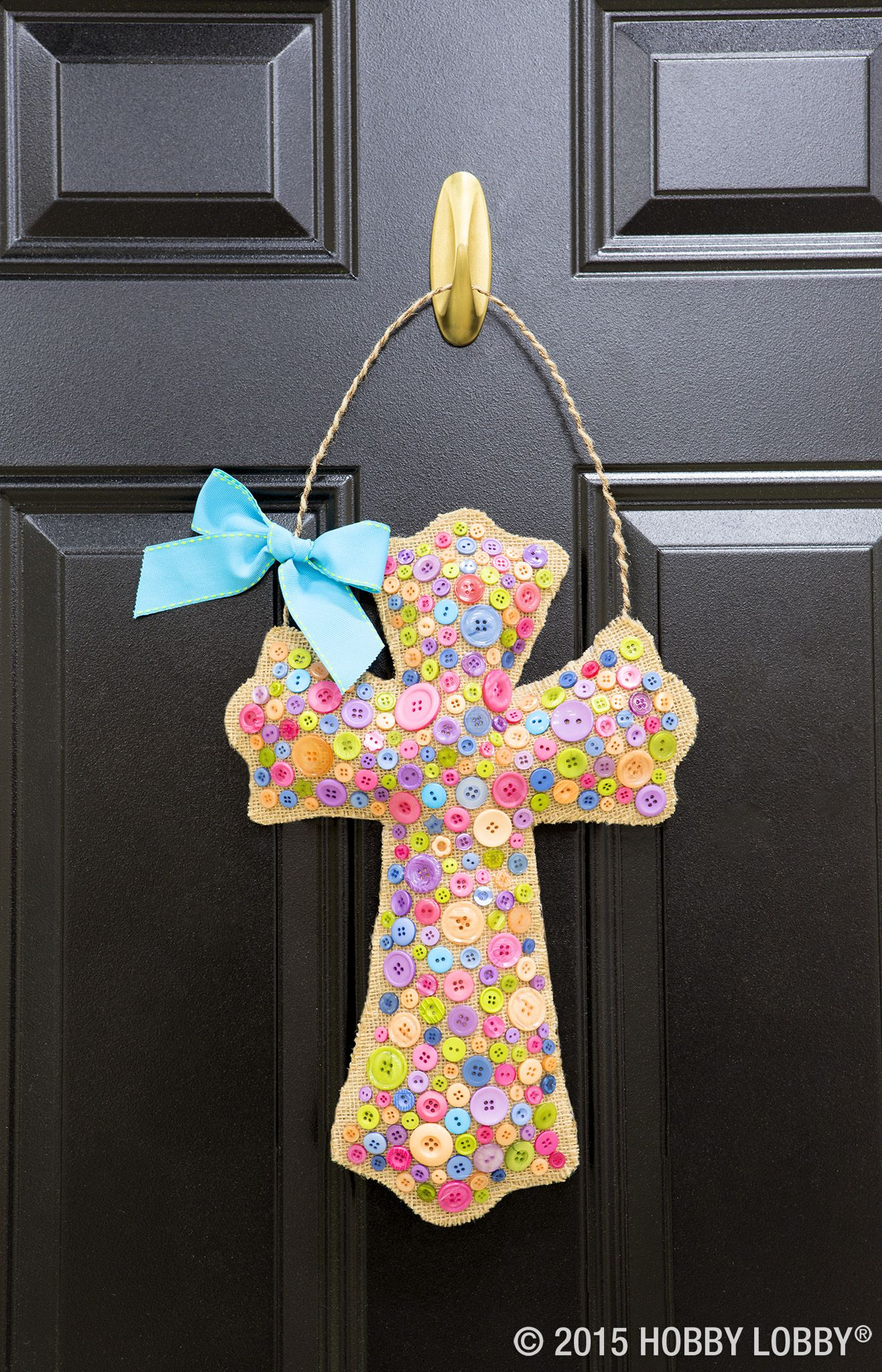 Brighten up your front door with pretty Easter decor! Simply create ...