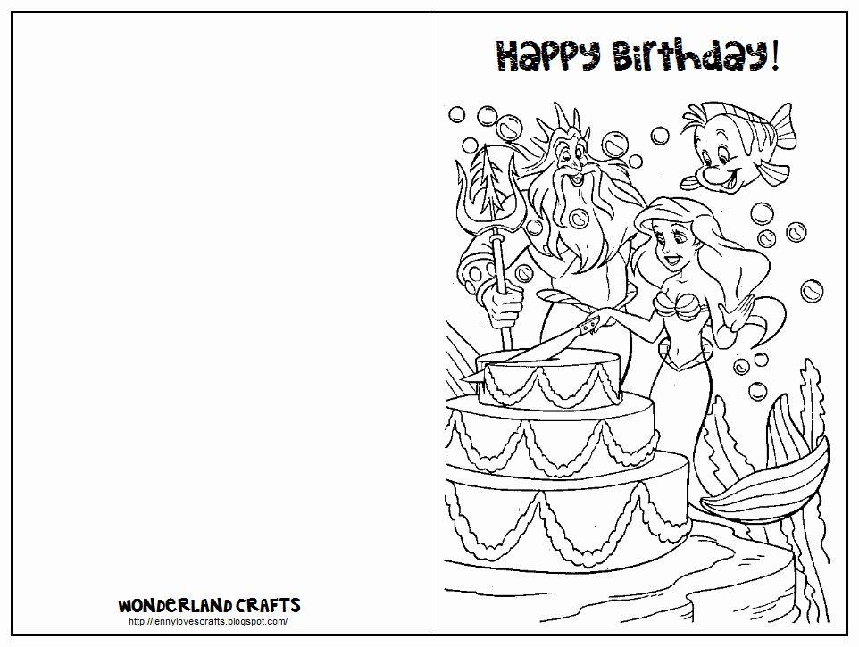 Birthday Card Coloring Page Elegant Wonderland Crafts Birthday Cards Printables Birthday Coloring Pages Happy Birthday Printable Birthday Card Printable