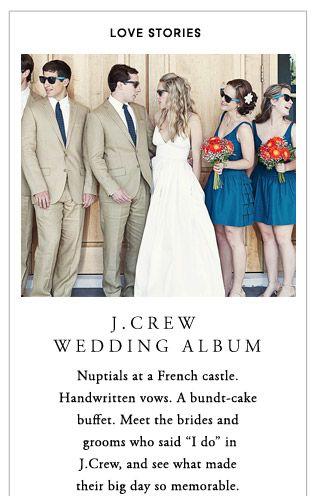 JCrew.com weddings classic style with raybans