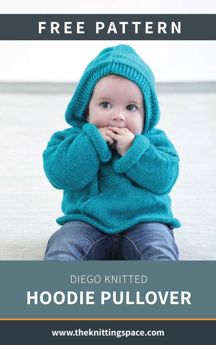 Diego Knitted Hoodie Pullover [FREE Knitting Pattern]
