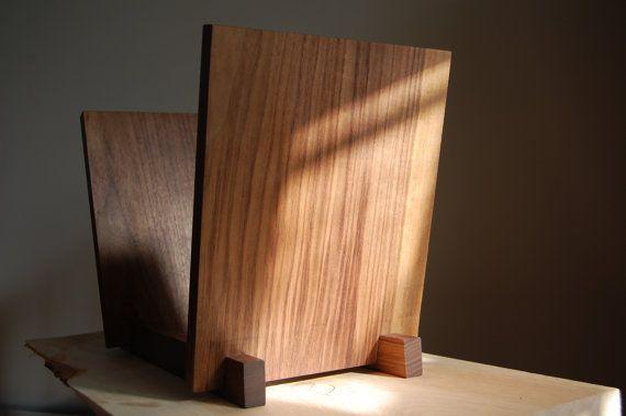 12 Vinyl LP Display Beautiful Solid Walnut by SuperCoolThings