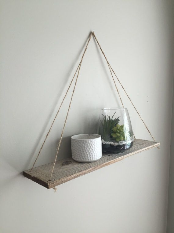 Hanging Shelves Hanging Shelf Wall Shelf Rope Shelf Rustic