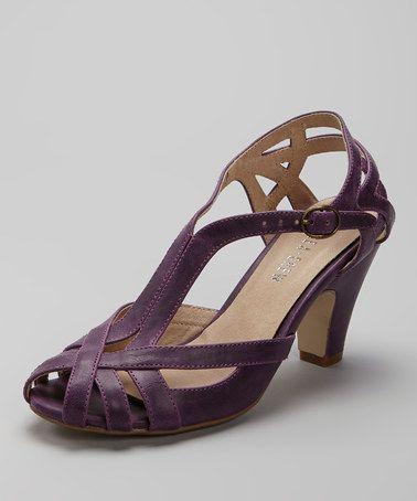Purple Carla Peep-Toe Shoe #zulily #zulilyfinds