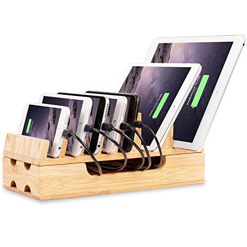 Charging Station Levin Eco Friendly Bamboo Charging Station Rack Docking Organizer For Multiple Devices Suc Charging Station Diy Charging Station Smartphone