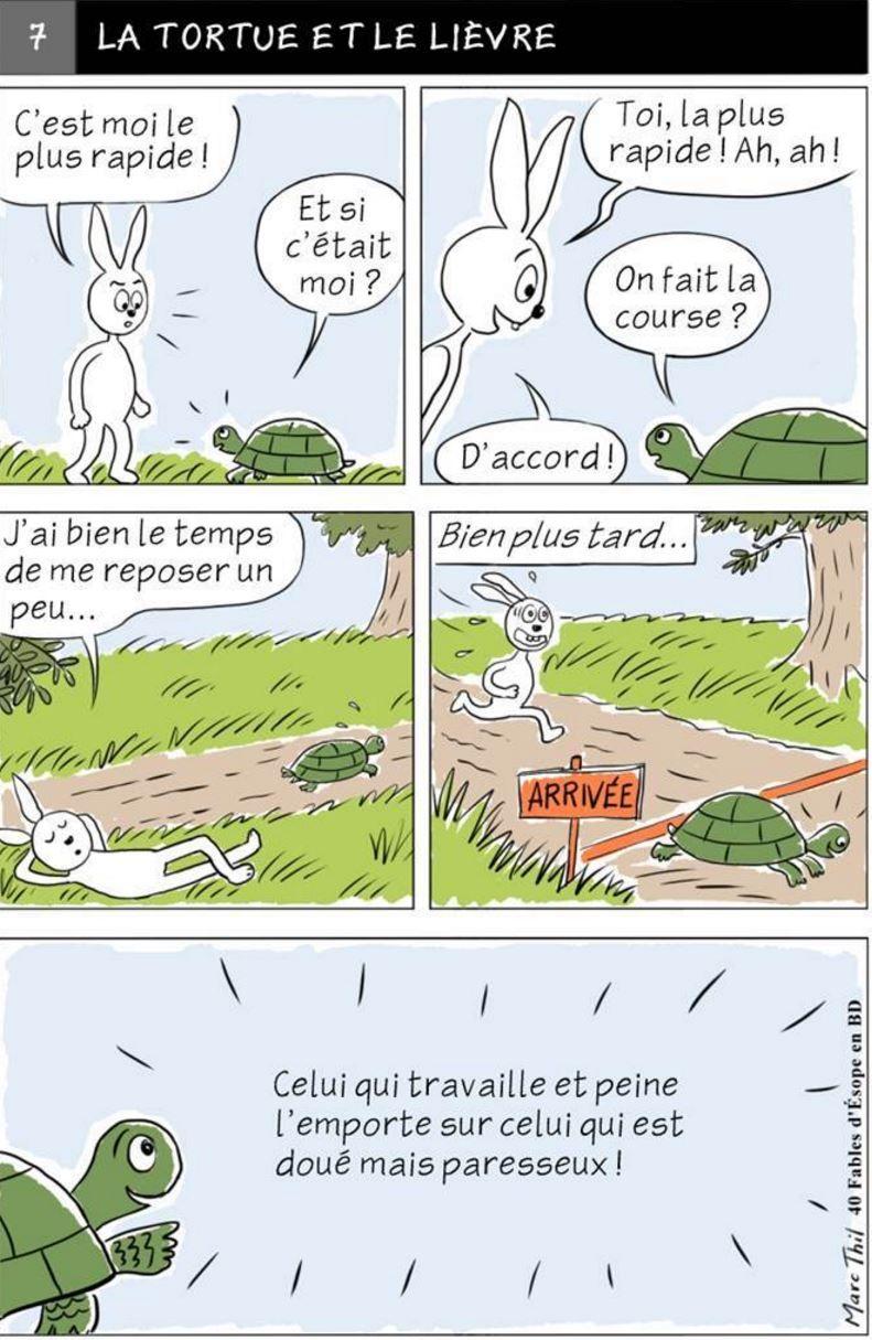 Fable d 39 esope en bd la tortue et le lievre fables d - Dessin du lievre et de la tortue ...