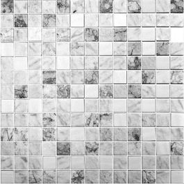 Glass Onix Essence Carrara Grey 1x1 Glass Mosaic Blend Mosaic Tile Sheets Glass Mosaic Tiles Mosaic
