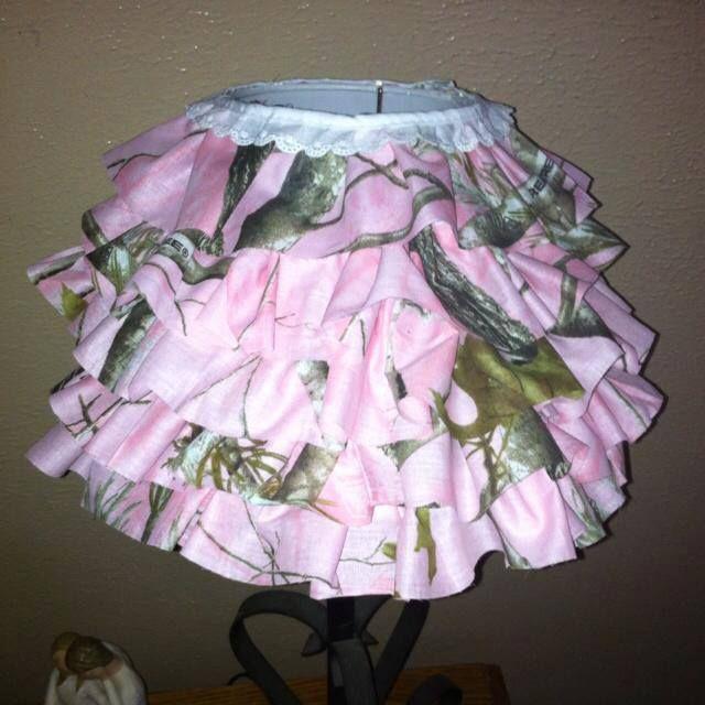 Diy Realtree Pink Camo Ruffle Lamp Shade Realtreecamo