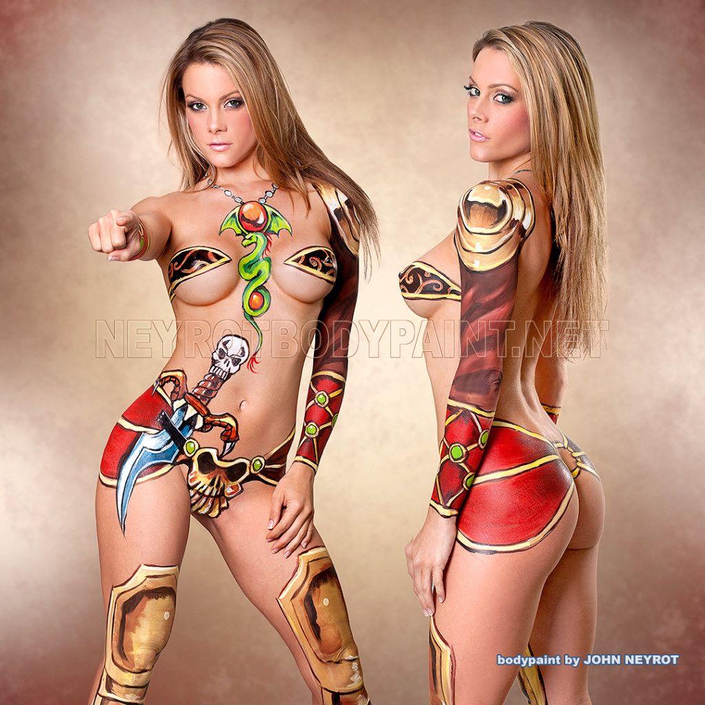 Body paint lesbians