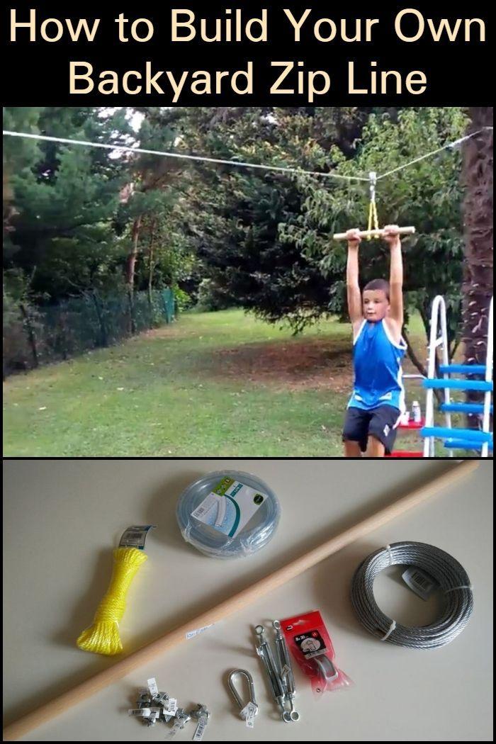 How to Build Your Own Backyard Zip Line in 2020 ...