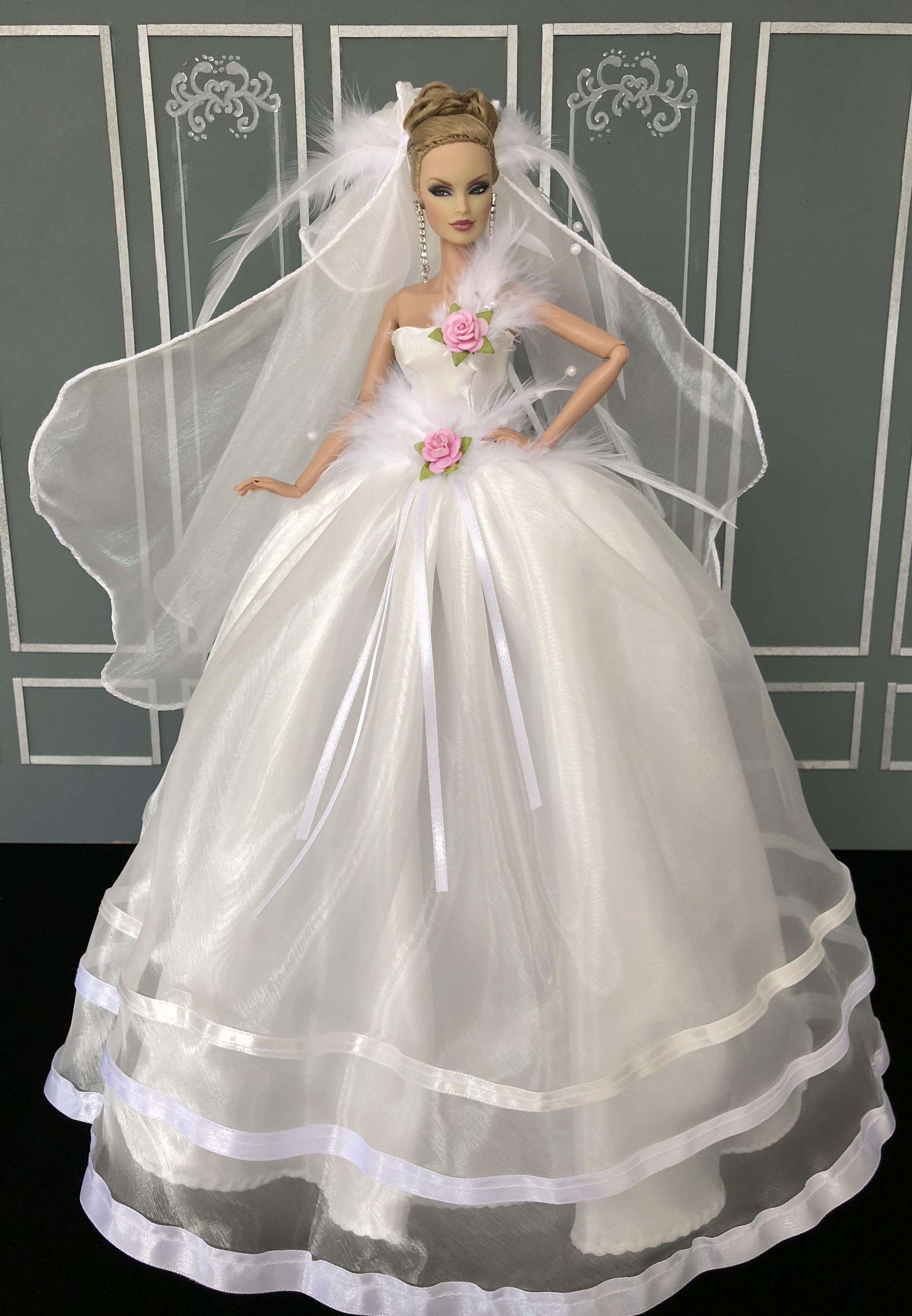 Pin by Elisabeth on Fahsai Design  Doll wedding dress, Barbie