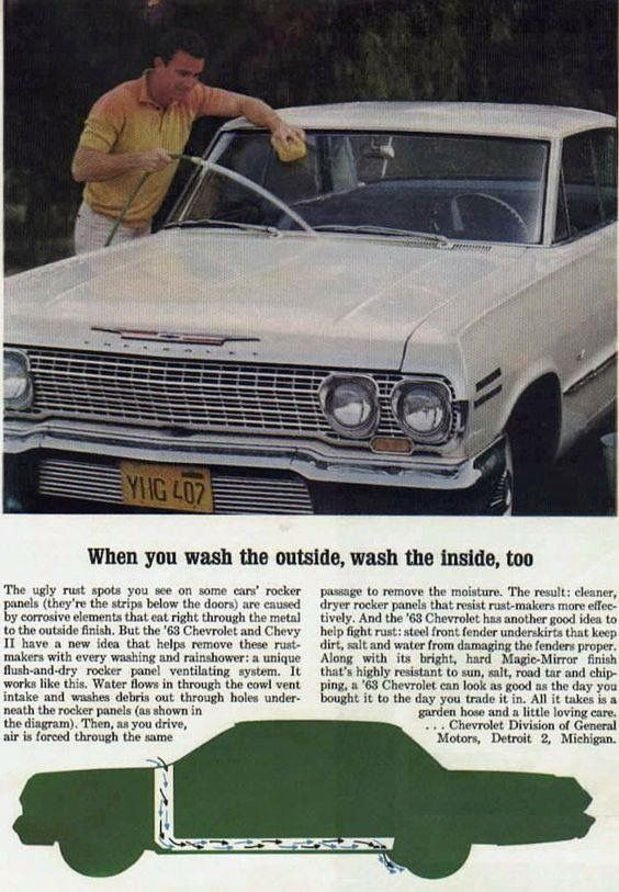 63 Impala Ad Automobile Advertising Chevrolet Classic Cars Chevy
