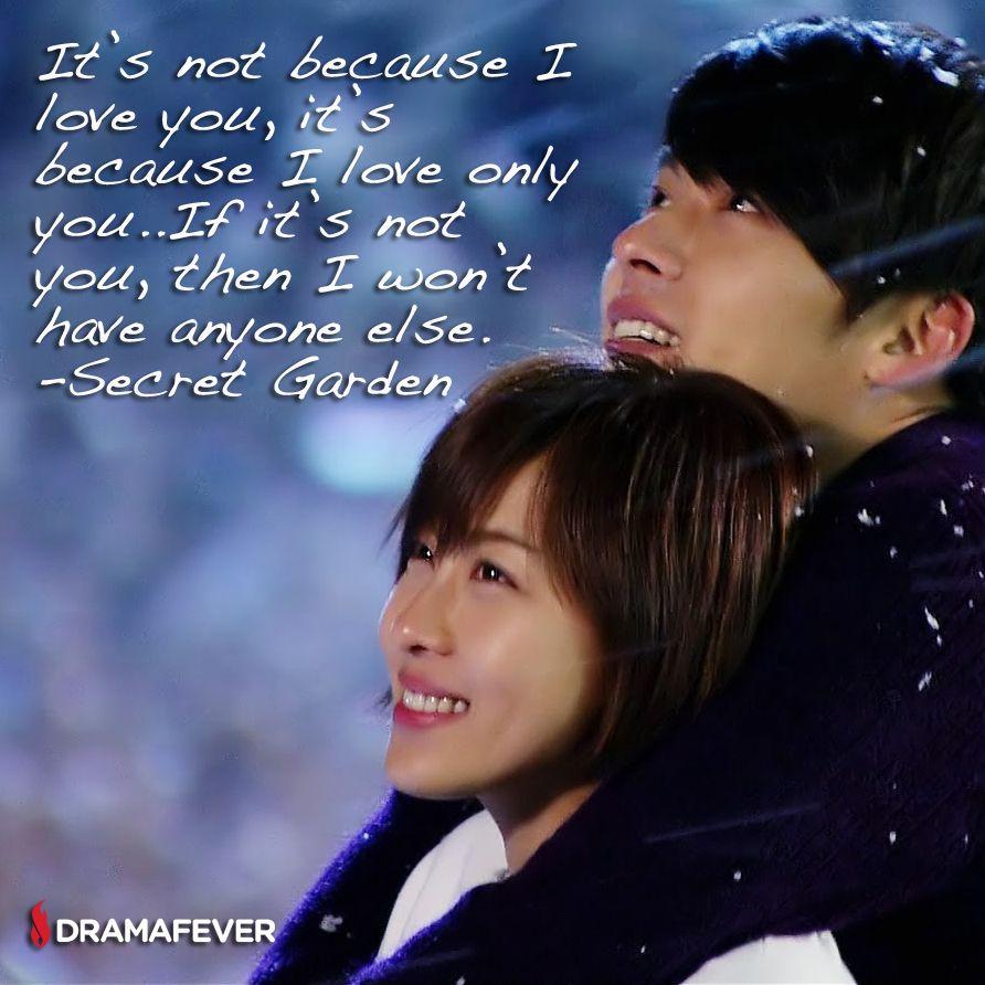 50 K-drama quotes about true love Gardens, Secret garden kdrama and ...
