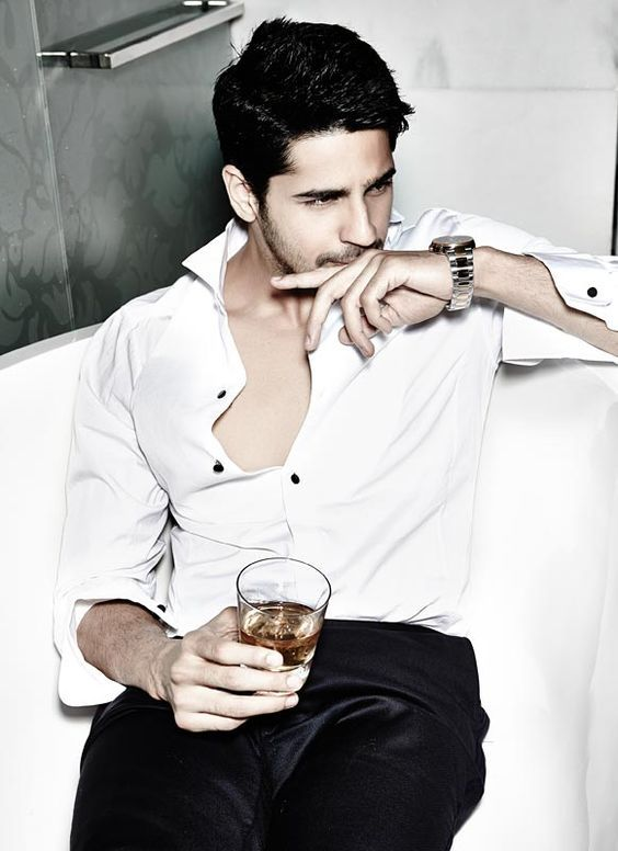 The white shirt never loses its charm. Get #Sidharth's look here ...