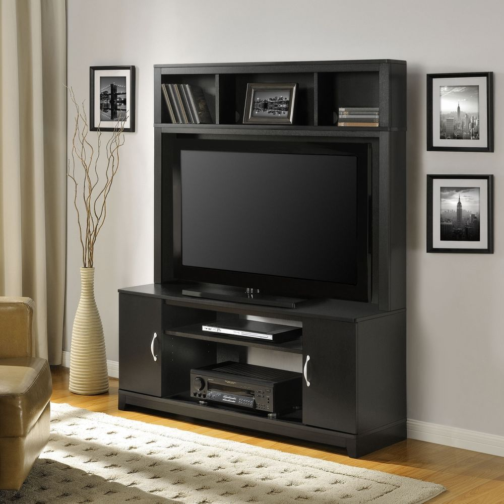 Simple Desirable Tv Stand Unit With Espresso Color Option