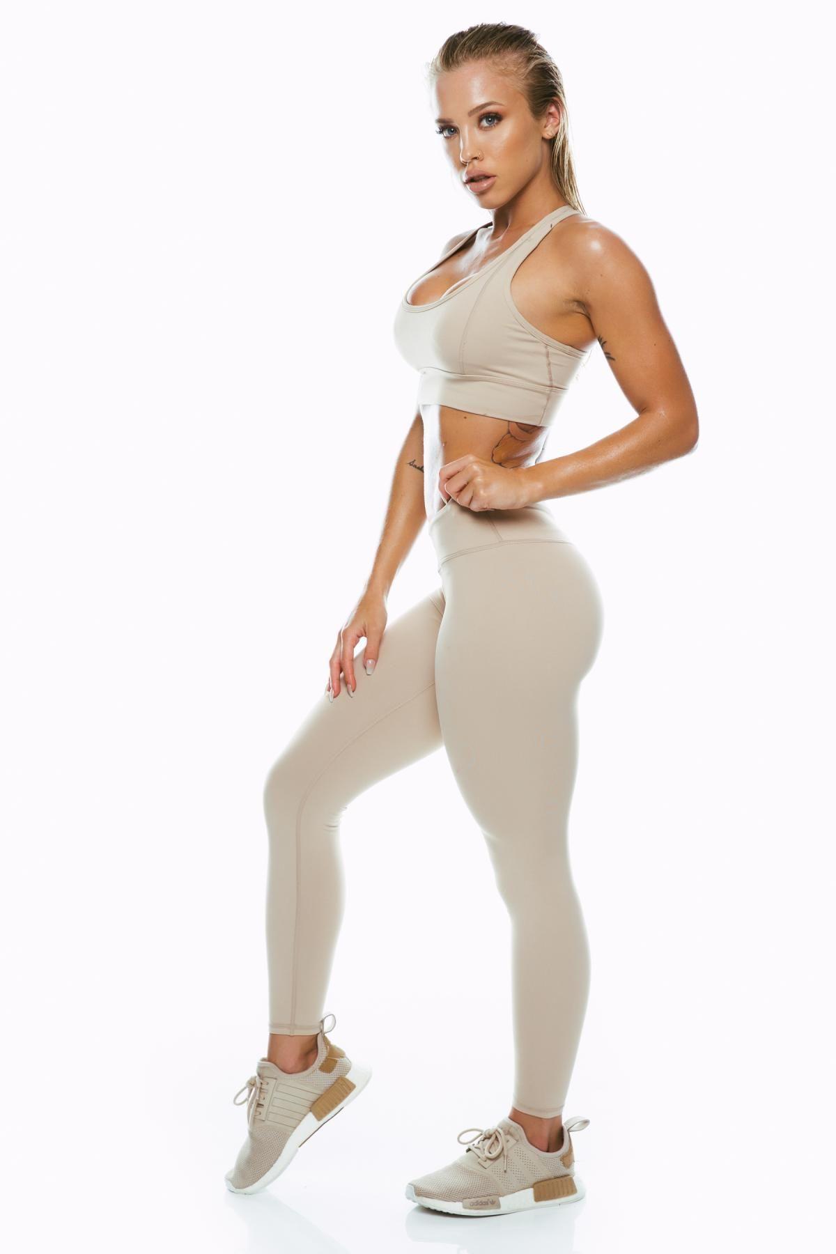 6a45845882241 Nude Mid Waist Leggings in 2019 | Photoshoot | Nude leggings, Tammy ...