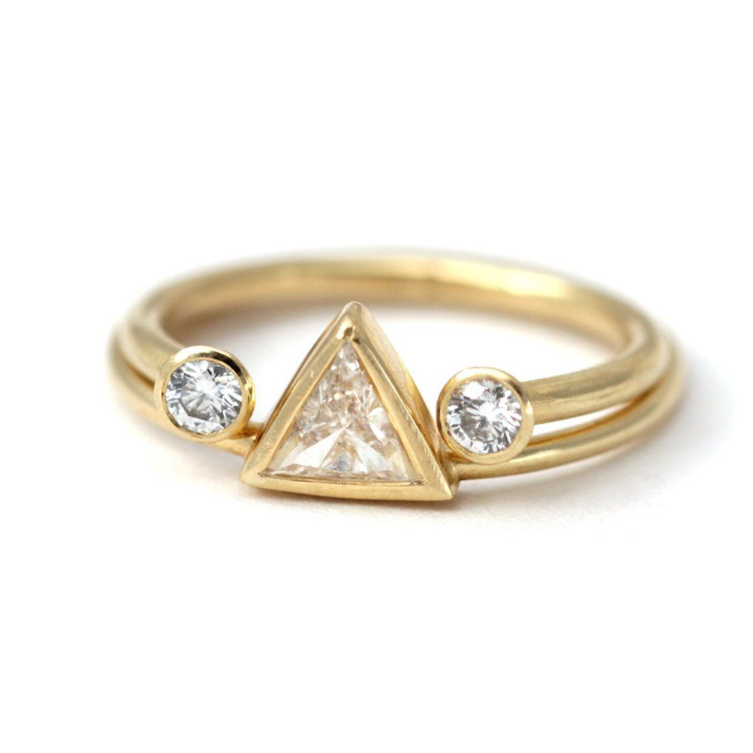 side engagement wg view white diamond antique estate milgrain darlene rings l geometric gold platinum ring products