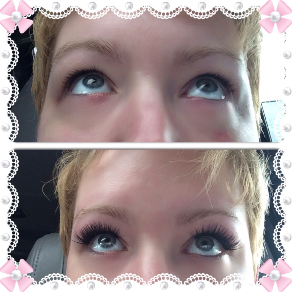Eye lash extensions. Before and after. Bundles. Lash