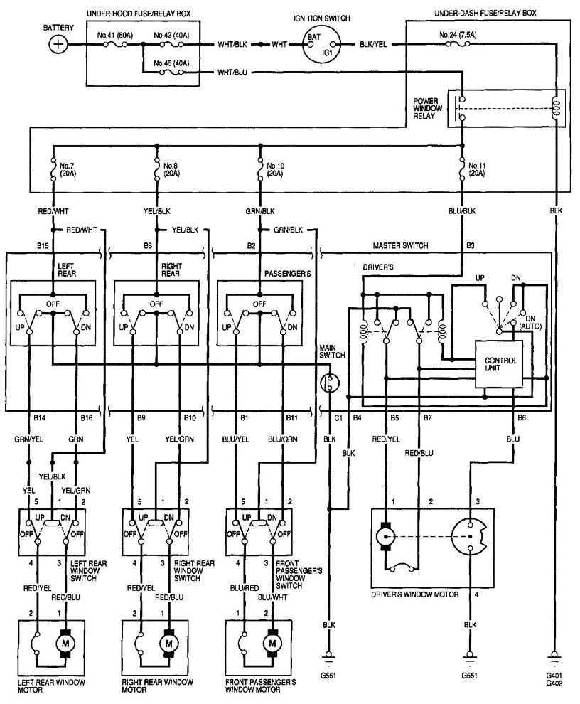 Wiring Diagram 1996 Honda Civic Si (Power Windows Not