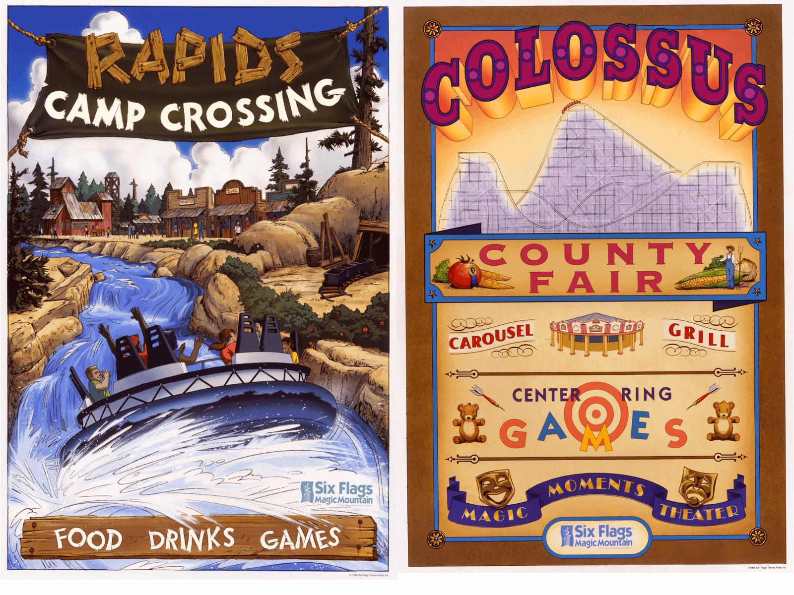Kbxd Project Detail Six Flags Magic Mountain Poster Program Retro Poster Poster Six Flags